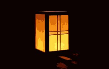 行灯しかないくらい部屋